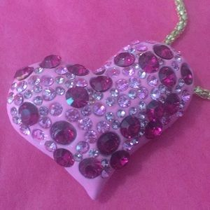 Pink ❤️ necklace/broach